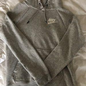 NIKE gray women's hoodie